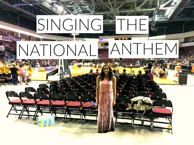 Singing The National Anthem  Experience!!