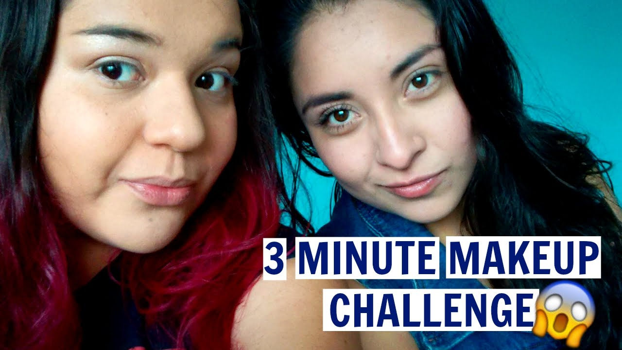 3 minute makeup challenge con Fer!!