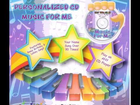 Personalized Music CD-Music for me Volume 1