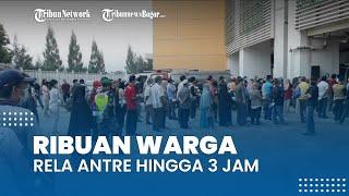 Ribuan Warga Bogor Antusias Ikut Vaksin Massal di Stadion Pakansari, Rela Antre hingga 3 Jam
