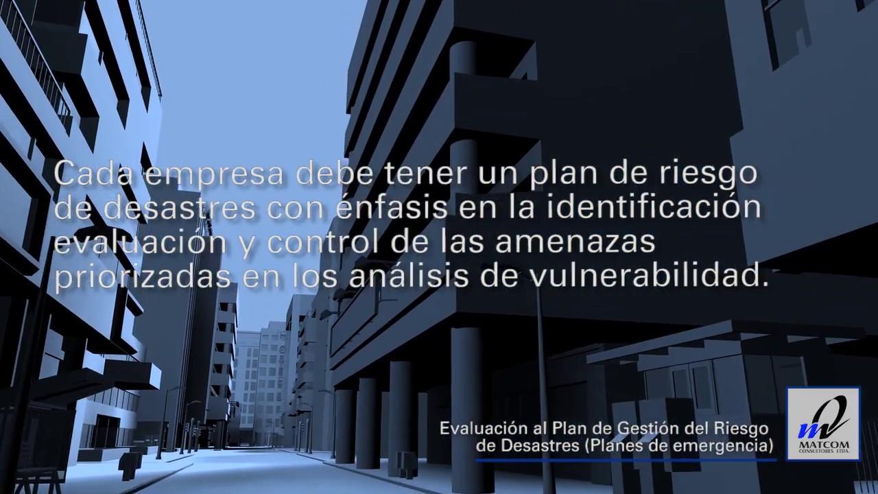 Evaluación al plan de gestión del riesgo de desastres