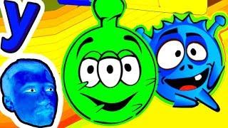 БЕРЕГИСЬ ПРИШЕЛЕЦ! Синий ШАР ПУШИСТИК ищет путь на СВОЮ ПЛАНЕТУ! #229 Мультик ИГРА для детей