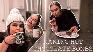 WE TRIED MAKING HOT CHOCOLATE BOMBS! | TikTok Trend | Herrin Twins