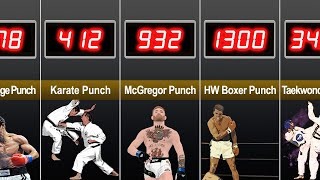 Human Comparison : The Most Powerful Punches and Kicks