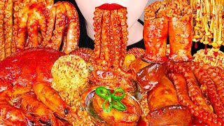 SPICY SEAFOOD BOIL MUKBANG 매운 해물찜 먹방 OCTOPUS, SHRIMP, SCALLOP, ENOKI MUSHROOM COOKING&EATING SOUNDS