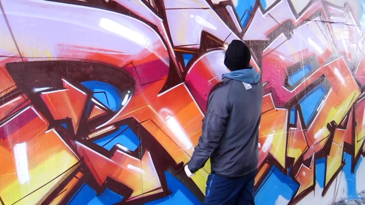 graffiti street art demonstration by raskoart