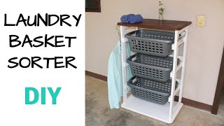 How To Make A Laundry Basket Holder | Laundry Sorter
