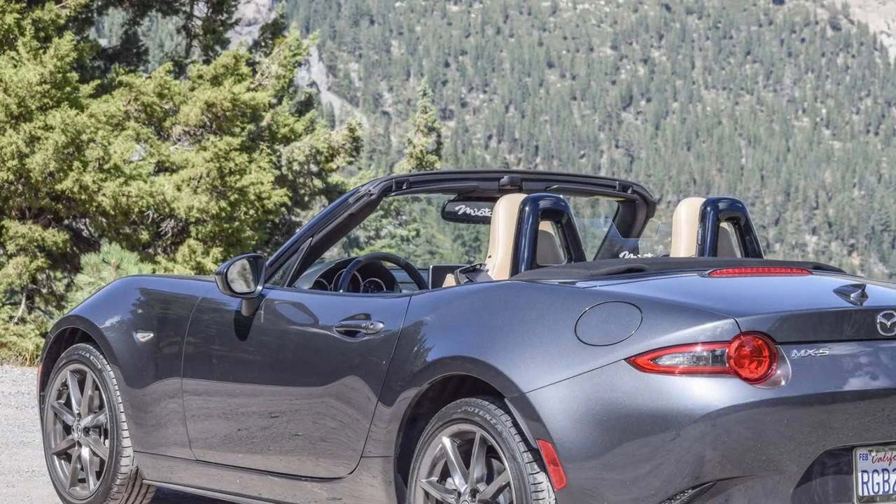 Mazda MX-5 2016+ , Fiat 124 Spider 2017+ Acrylic Wind Blocker, with logo options