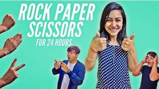 ROCK PAPER SCISSORS FOR 24 HOURS CHALLENGE   Rimorav Vlogs