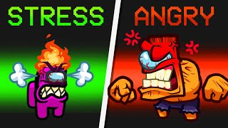 *NEW* STRESS to ANGRY IMPOSTER ROLE in Among Us?! (Funny Mod)