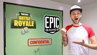 Ali-A VISITS EPIC GAMES! (+ NEW *SECRET* Fortnite: Battle Royale REVEALED)
