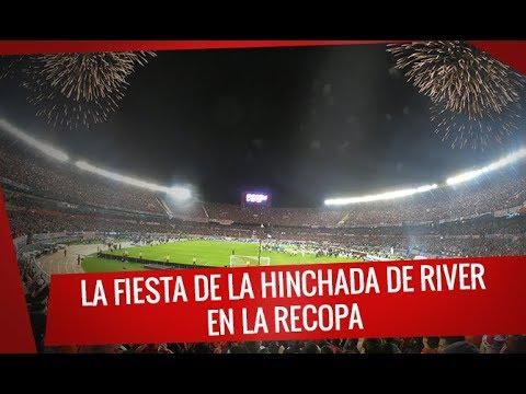 """""""La fiesta de la hinchada de River en la Recopa 2019"""" Barra: Los Borrachos del Tablón • Club: River Plate"""