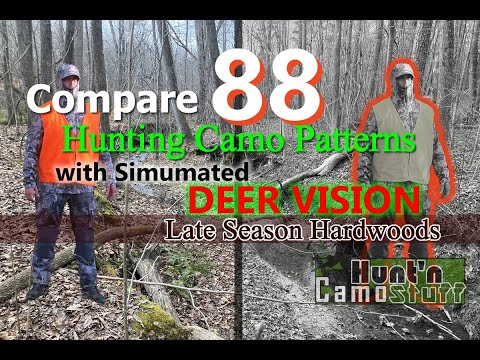 Camo Comparison with Deer Vision for Late Season Hardwoods - Pick the best of 88 Patterns for you!