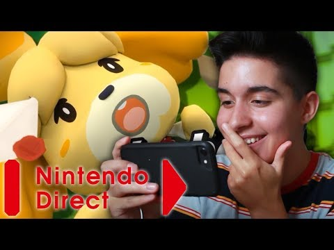 ANIMAL CROSSING FOR THE SWITCH!!   Nintendo Direct Reaction (September 2018) (видео)