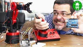 Braço Robótico Com Arduino - Como Montar O Circuito E Como Programar