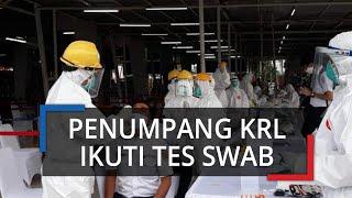 Penumpang KRL Jalani Tes Swab Massal di Stasiun Bogor