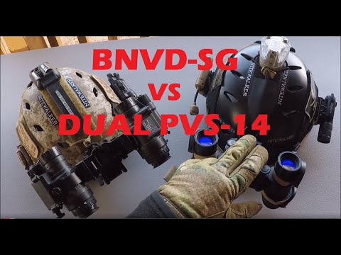 REVIEW of dual PVS-14's vs BNVD-SG binocular night vision goggles