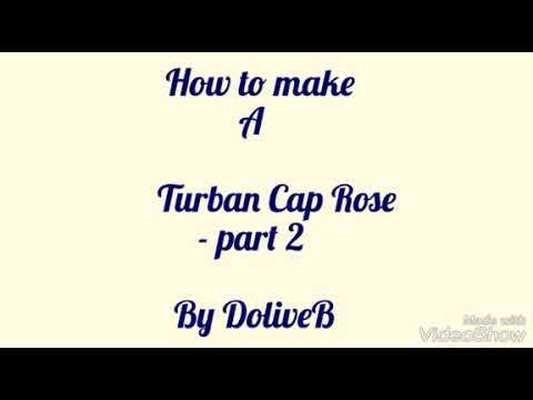 Turban Cap with Rose - part 2