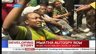 Human rights activists stage protests in Nairobi following death of Mwatha