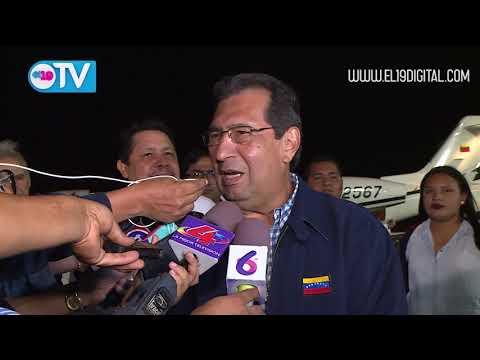 Llegan a Nicaragua los compañeros Adán Chávez Frías y Elías Jaua