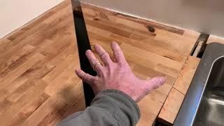 DIY Butcher Block Countertop RESCUE!! Countertop Job Finish and Repair