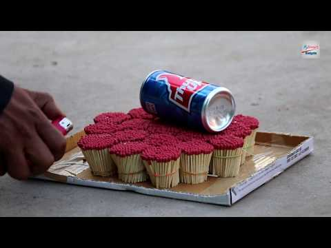 Cocacola Vs Safety Matches Thumsup fire Experiment ! Blast IndianHacker #Summer video
