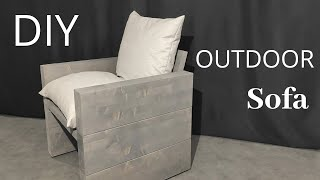 Outdoor Chair DIY /Sofa/ Moderne Sessel selber bauen/ Gartenmöbeln selber bauen/Gartenideen