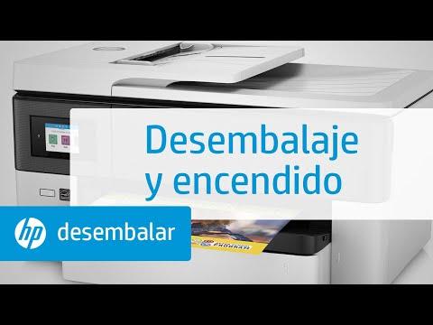 Desembalaje y encendido de las impresoras multifunción de gran formato HP OfficeJet Pro de la serie 7720