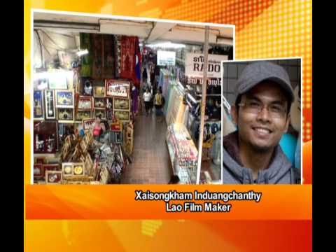 """Video Phone In - Xaisongkhan Induangchanthy, Lao Film Maker on """"Lao Shopping Center"""""""