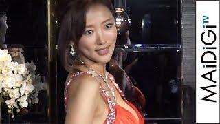 夏菜「GANTZ以来」キャバ嬢ドレスで美背中披露ドラマ「ハケンのキャバ嬢・彩華」制作発表会見4