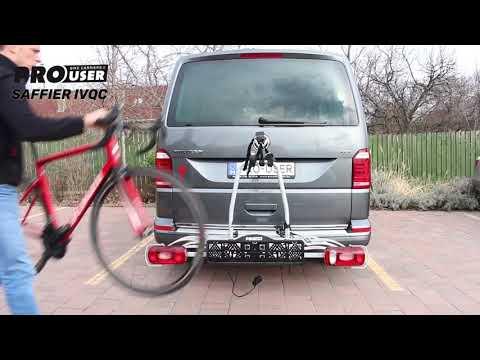 4 kerékpár szállítása egyszerűen Pro User Saffier kerékpárszállító vonóhorogra