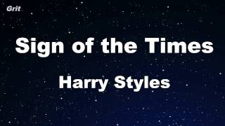 Sign Of The Times   Harry Styles Karaoke 【No Guide Melody】 Instrumental