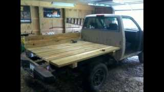 Nissan Hardbody /  Toyota Pickup Truck How To Wooden Flatbed Install