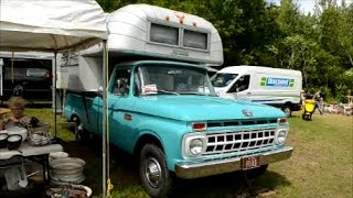 '65 FORD PICKUP TRUCK WITH VINTAGE AVION CAMPER