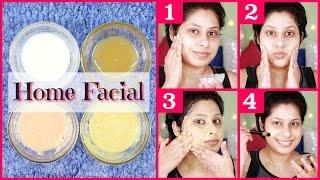 Skin Whitening Milk Facial At Home || Get Lighter & Glossy Skin