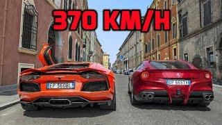 Ferrari F12 Berlinetta VS Lamborghini Huracan L610-4 0-340km/h ...