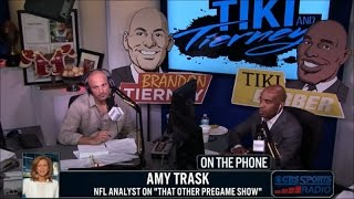 Amy Trask joins Tiki and Tierney