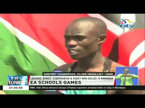 Leshoo and Biwot win gold medals in the East African school games