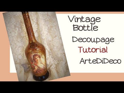 Ανάγλυφο μπουκάλι ντεκουπάζ με οδηγίες βήμα-βήμα