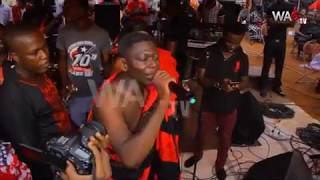 Kofi Adu know as Agya Koo was been stoped when singing  at inlaws funeral