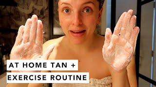 TAN / SKINCARE / MAKEUP / AT HOME EXERCISE ROUTINES  | Estée Lalonde