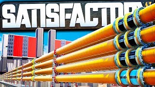 42,000 km Oil Pipeline MEGA Project! - Satisfactory Early Access Gameplay Ep 12