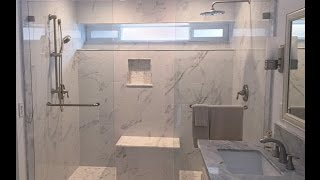 Modern  Marble Shower And Bathroom Remodel