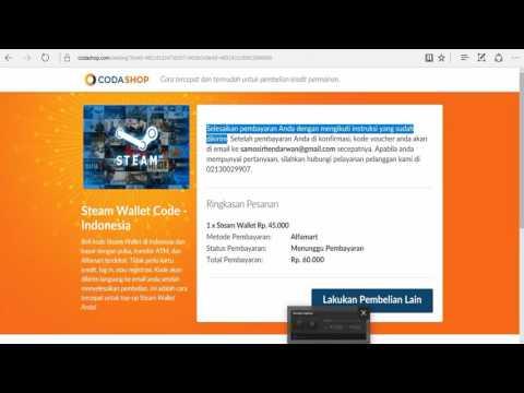 Beli Kode Steam Wallet melalui Alfamart