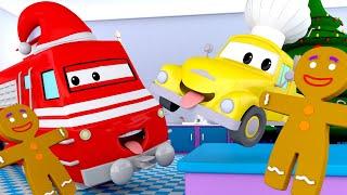 Поезд Трой -  РОЖДЕСТВО - КАТОК Малыш Стив помогает печь ИМБИРНЫЕ ПРЯНИКИ! - детский мультфильм