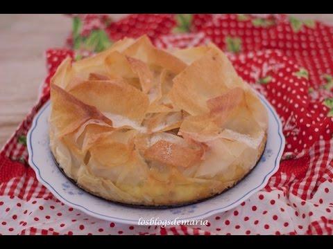 Tarta de pasta philo con manzanas y pasas