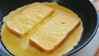 One pan egg toast