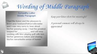 Sympathy Letter ***