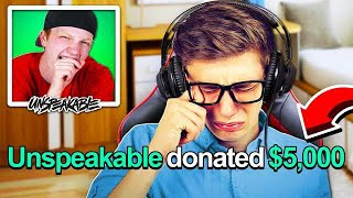 I DONATED $5,000 TO A STREAMER AND MADE HIM CRY!