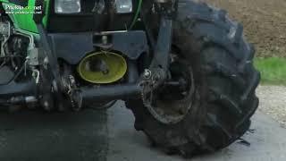 Trčenje motorista in traktorja